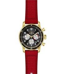 reloj invicta modelo 35114 rojo hombre