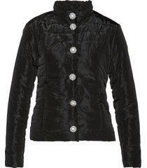 giacca trapuntata con bottoni di strass (nero) - bpc selection