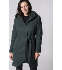 płaszcz z kapturem ciemno zielony holystic