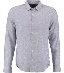 garcia slim fit overhemd 55% linnen valt kleiner