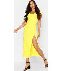 cap sleeve maxi dress, yellow