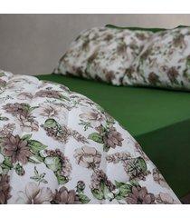conjunto de lençol queen pertutty 100 % algodão fios nobre