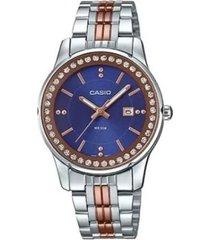 reloj análogo casio ltp-1358rg2a multicolor