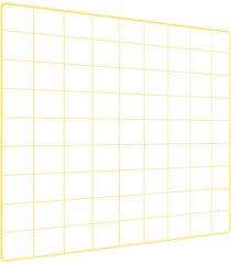 memory board quadro de fotos amarelo - 45cm x 45cm 6 mini prendedores