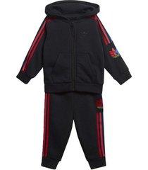 trainingspak adidas adicolor 3d trefoil hoodie set