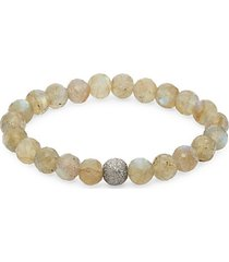 sterling silver & labradorite bead bracelet