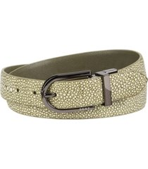 dkny reversible stingray-to-pebble texture belt
