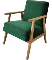 fotel prl dąb zielony