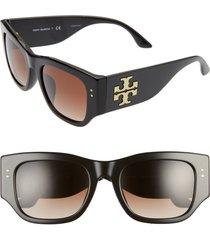 women's tory burch 52mm gradient rectangular sunglasses -