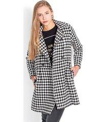 chaqueta tipo gabán color negro, manga larga de solapa y botones delanteros color-multicolor-talla-m