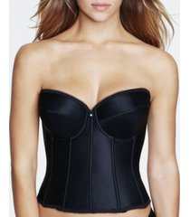 dominique rachelle satin strapless corset bustier 7750