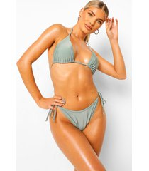 mix & match driehoekige bikini top, sage