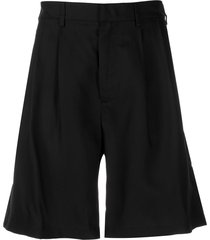 buscemi tailored wide leg shorts - black