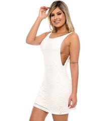 vestido nathalia freitas amada off white