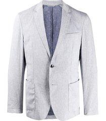 boss long sleeve two button blazer - blue
