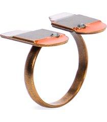 anel feminino clap - dourado