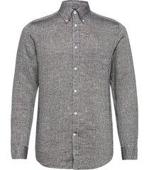 daniel bd-linen melange overhemd casual grijs j. lindeberg