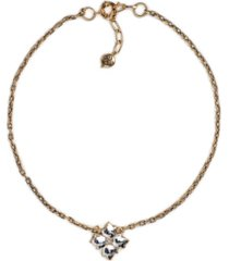 "patricia nash gold-tone crystal floret pendant necklace, 18"" + 2"" extender"