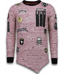 sweater local fanatic longfit asymric embroidery patches us army