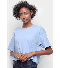 blusa hering cropped camisetão feminina - feminino