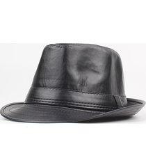 cappello invernale da uomo in pelle pu invernale invernale sottile con  cappuccio regolabile 67c1d1d26991