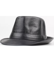 cappello invernale da uomo in pelle pu invernale invernale sottile con cappuccio regolabile