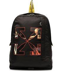 off-white caravaggio arrow logo backpack - black