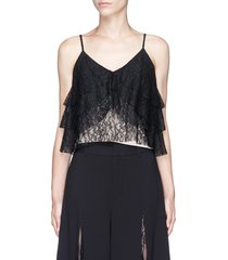 'vannessa' tiered floral guipure lace camisole