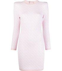 monogram jacquard knit dress