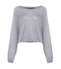 blusa feminina suzana - cinza