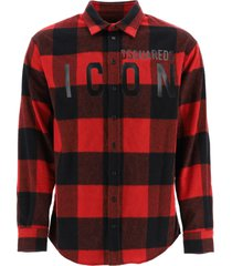 dsquared2 icon chechered shirt