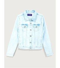 chaqueta clásica denim para mujer freedom 01879