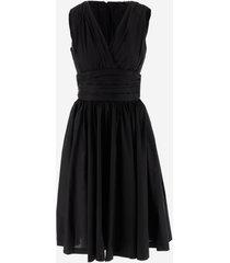 michael kors designer dresses & jumpsuits, stretch popeline cotton women's dress