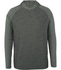 wolverine men's sun-stop pullover hoody dark grey camo, size m