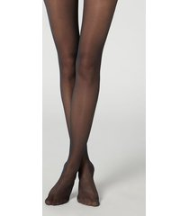 calzedonia 30 denier sheer shaping tights with control top woman blue size 3