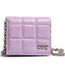 house of want h.o.w. we shop vegan leather wallet crossbody bag in lilac at nordstrom