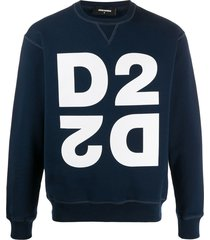 dsquared2 mirrored d2 print sweatshirt - blue