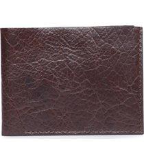 carteira masculina couro grained - marrom