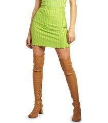 simon miller bloop rib skirt, size medium in kiwi at nordstrom
