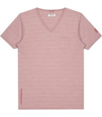 t-shirt v-neck roze