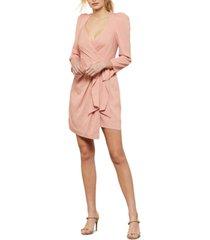 bcbgmaxazria mini faux-wrap dress
