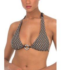 bikini selmark lunares voorgevormd driehoekig badpak topje mare bruin