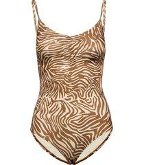 gytea swimsuit aop 10725 badpak badkleding bruin samsøe samsøe