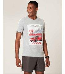 camiseta tradicional camaro® masculina malwee cinza claro - g