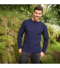 men's sherkin aran sweater navy s