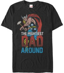 marvel men's comic collection classic thor the mightiest dad around short sleeve t-shirt