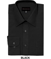 men dress shirts by dimension relaxed fit solid color business shirts black