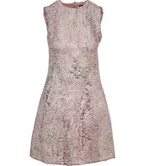 dolce & gabbana lurex jacquard short dress