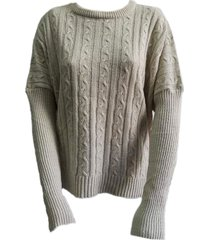 sweater beige zaf ancho