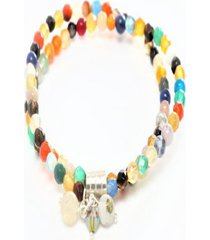 pulsera piedras y cristales swk multicolor moskatel